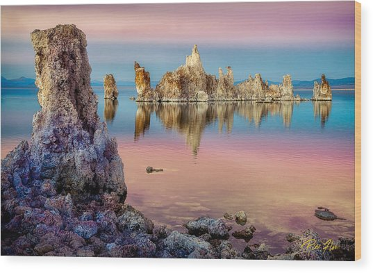 Tufas At Mono Lake Wood Print