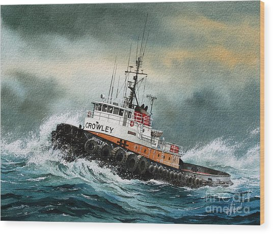Tugboat Hunter Crowley Wood Print