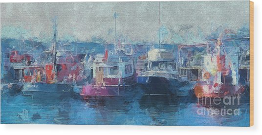 Tugs Together  Wood Print