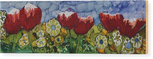 Tulip Bonanza Wood Print