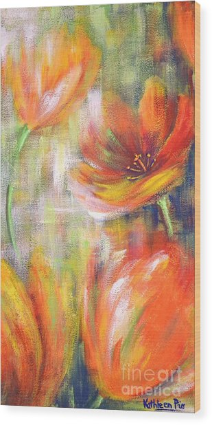 Tulip Freedom Wood Print