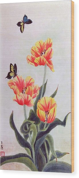 Tulip I Wood Print by Ying Wong