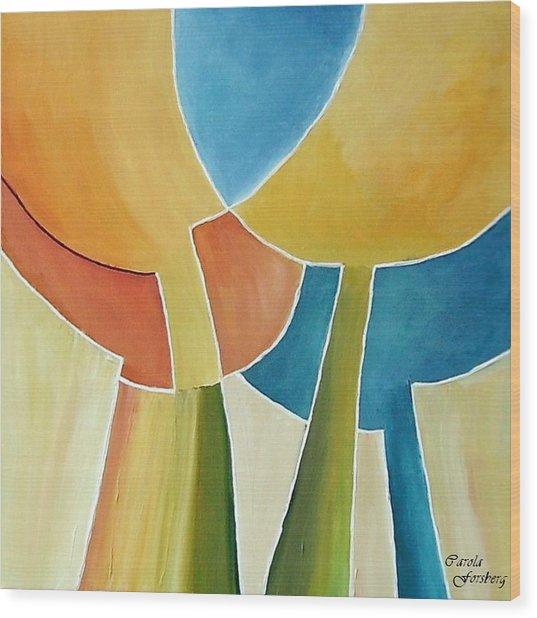 Tulip Moon Wood Print by Carola Ann-Margret Forsberg