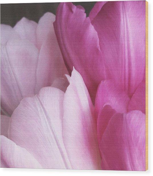 Wood Print featuring the digital art Tulip Petals by Julian Perry
