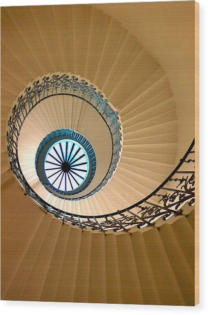 Wood Print featuring the digital art Tulip Staircase by Julian Perry