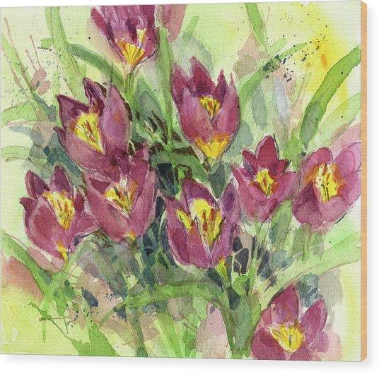 Tulipa Wood Print