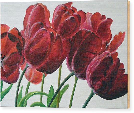Tulipe Wood Print by Deborah Dallinga