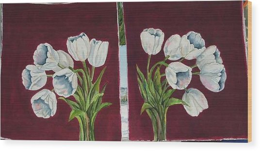 Tulips 11 And 12 Wood Print