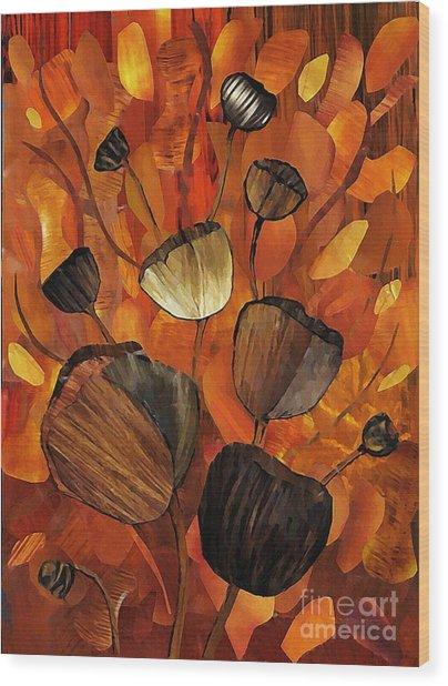 Tulips And Violins Wood Print