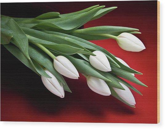 Tulips I Wood Print