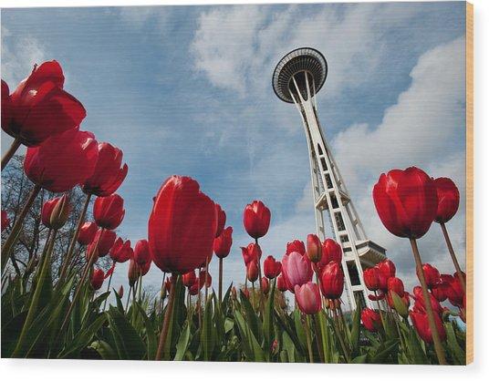 Tulips In Seattle H081 Wood Print by Yoshiki Nakamura