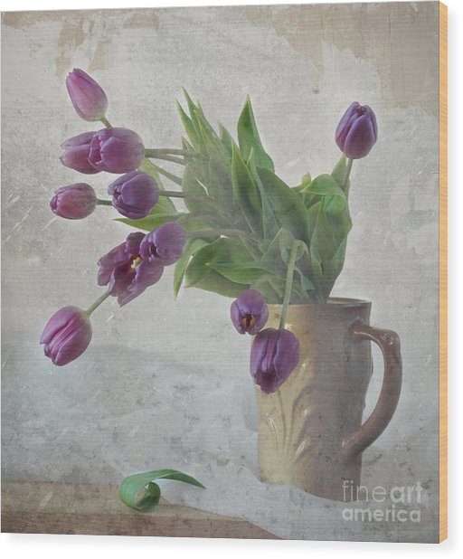 Tulips Wood Print by Irina No