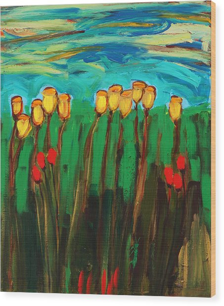 Tulips Wood Print by Maggis Art