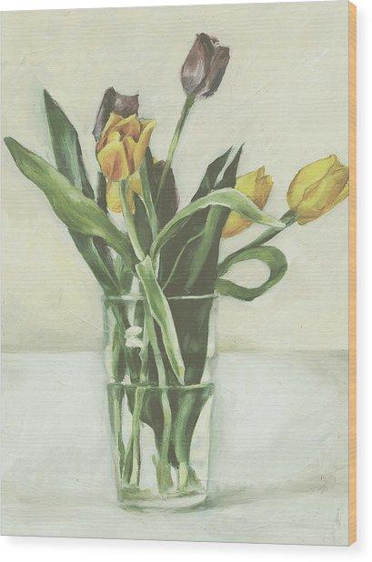 Tulips Wood Print by Sarah Madsen