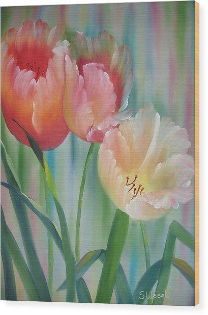 Tulips Wood Print by Sherry Winkler