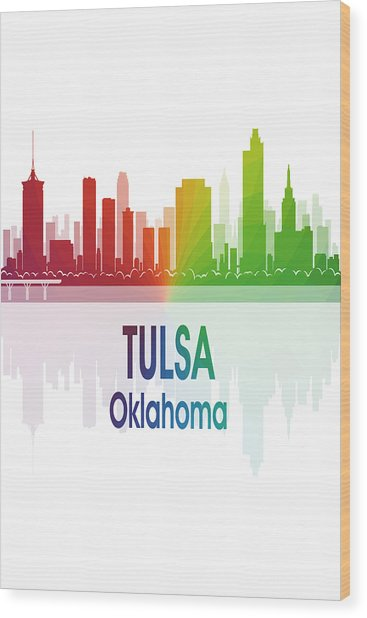 Tulsa Ok 1 Vertical Wood Print