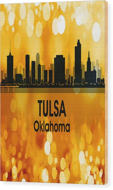 Tulsa Ok 3 Vertical Wood Print