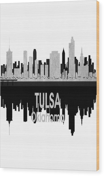 Tulsa Ok 4 Vertical Wood Print