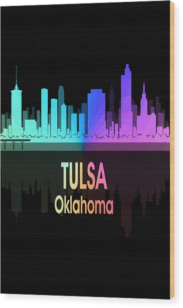 Tulsa Ok 5 Vertical Wood Print