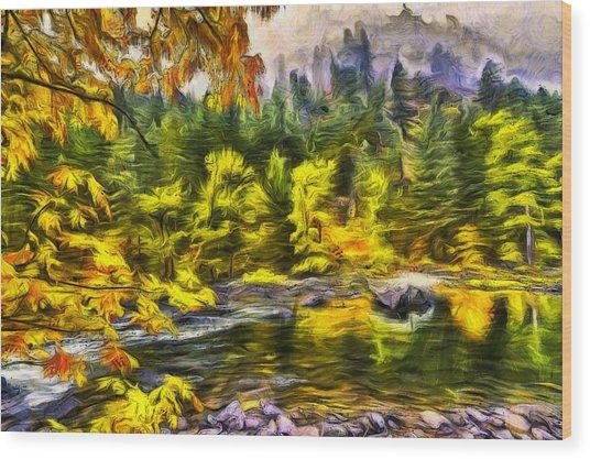 Tumwater Autumn Wood Print