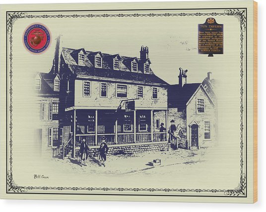 Tun Tavern - Birthplace Of The Marine Corps Wood Print