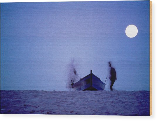 Tunesian Night Wood Print