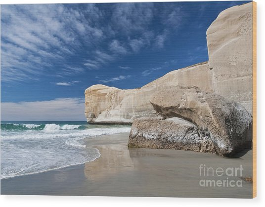 Tunnel Beach 1 Wood Print