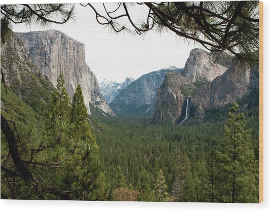 Tunnel View Framed Wood Print