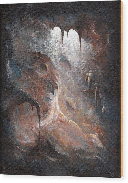 Tunnel Vision 01 - Dark Place Wood Print