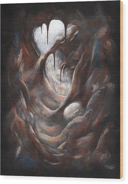 Tunnel Vision 03 - Spotlight Wood Print
