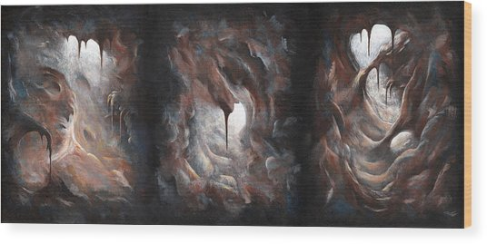 Tunnel Vision - Triptych Wood Print