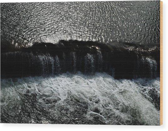 Turbulent Water Wood Print