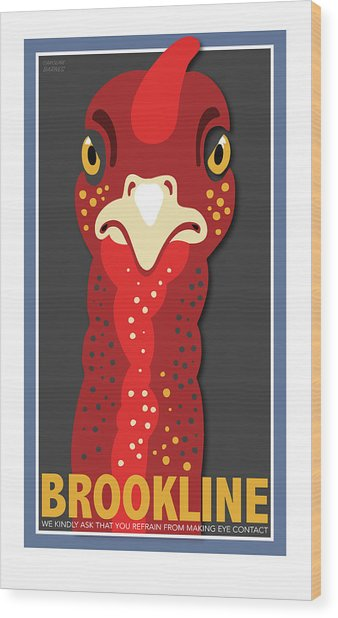Turkey Stare Wood Print