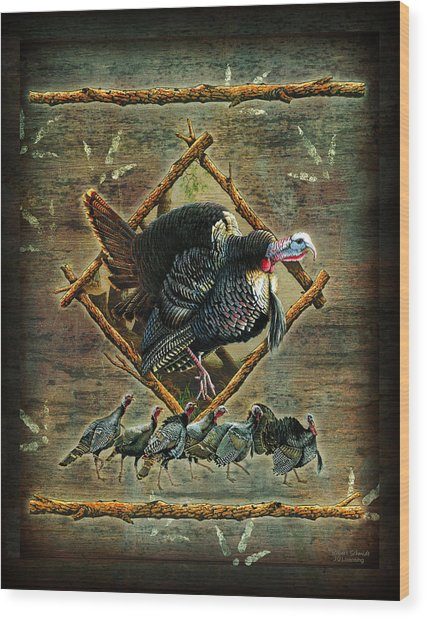 Turkey Lodge Wood Print