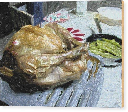 Turkey Wood Print by Michael Morrison
