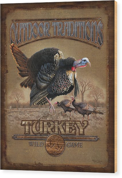 Turkey Traditions Wood Print