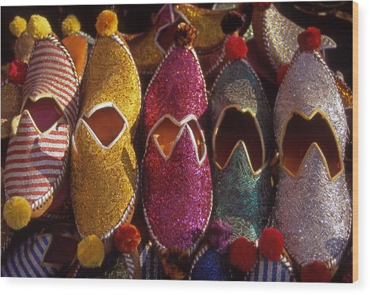 Turkish Slippers Wood Print by Steve Outram