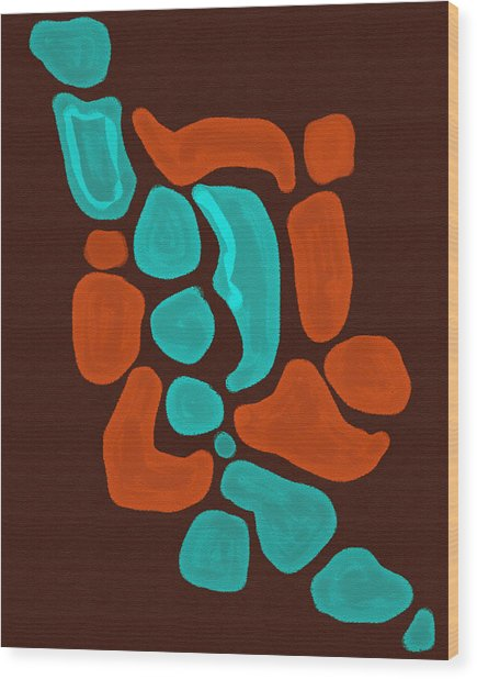 Turquoise Dreams Wood Print by Heather Davidson