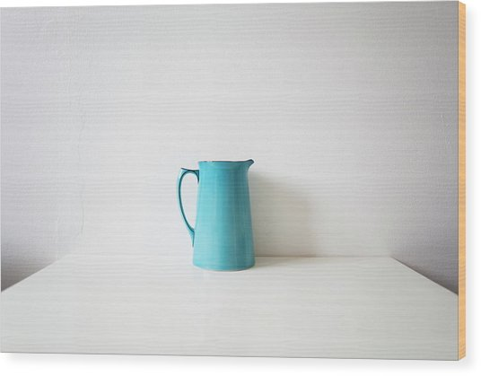 Turquoise Jug Wood Print by Mary Gaudin