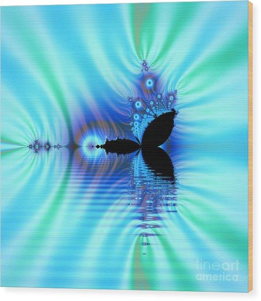 Turquoise Lake Fractal Wood Print