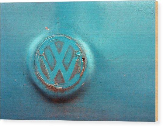 Turquoise Veedub Wood Print by Jez C Self