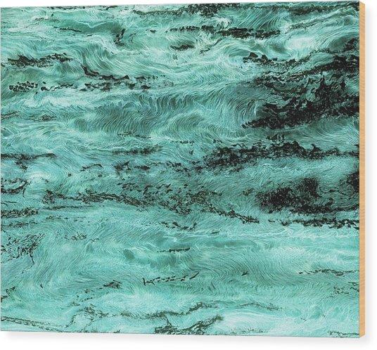 Turquoise Water Wood Print by Paul Tokarski