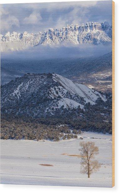 Turret Ridge In Winter Wood Print