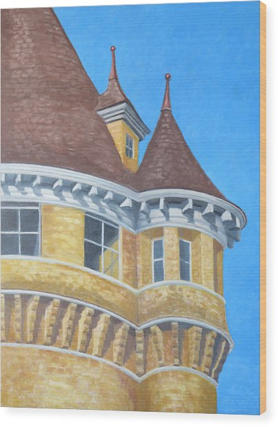 Turrets Of Lawson Tower Wood Print