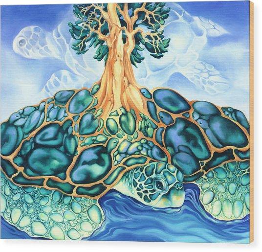 Turtle Island Wood Print by Marcia Snedecor