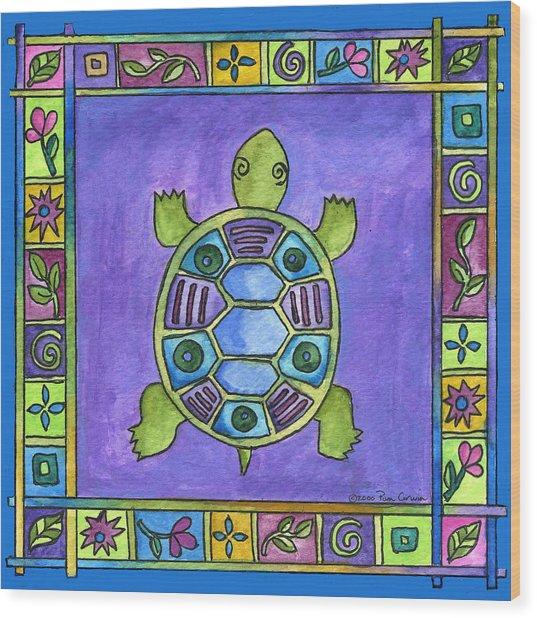 Turtle Wood Print by Pamela  Corwin