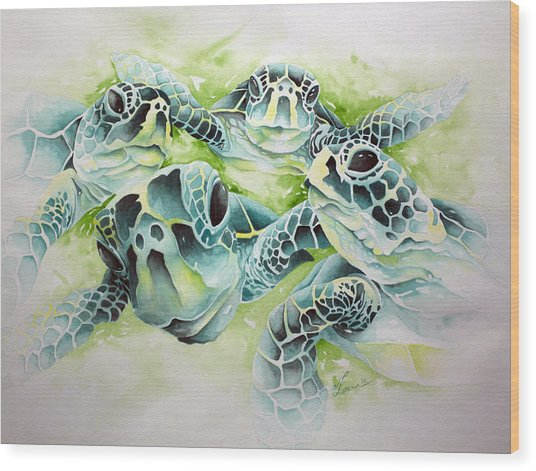 Turtle Soup Wood Print