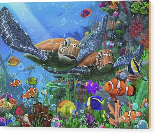 Turtles Of The Deep Wood Print