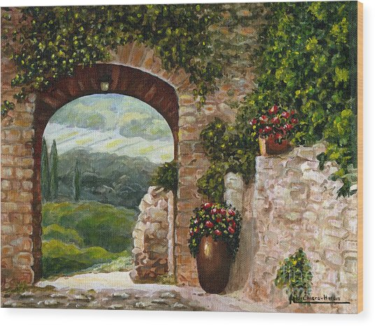 Tuscan Arch Wood Print