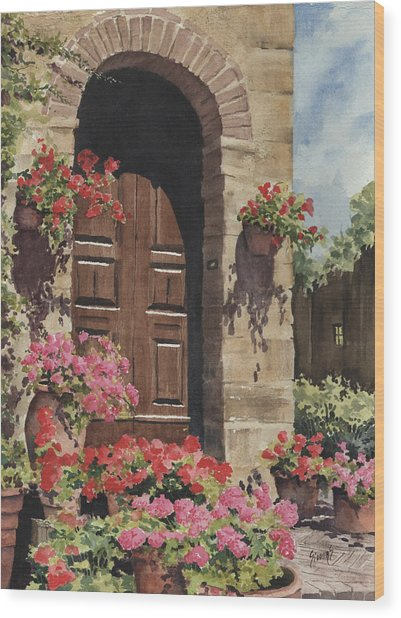 Tuscan Door Wood Print